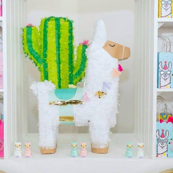 Llama and Cactus Pinatas