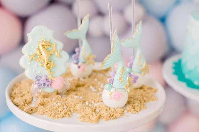 Mermaid Party Cake Pops and Cookies