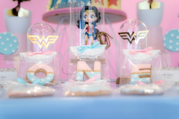 Pastel Wonder Woman Themed Party