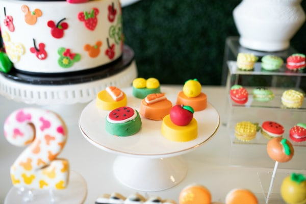 Tutti Frutti Minnie Mouse Party Desserts on Pretty My Party