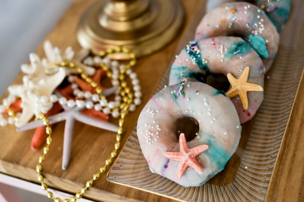Mermaid Party Donuts With Starfish