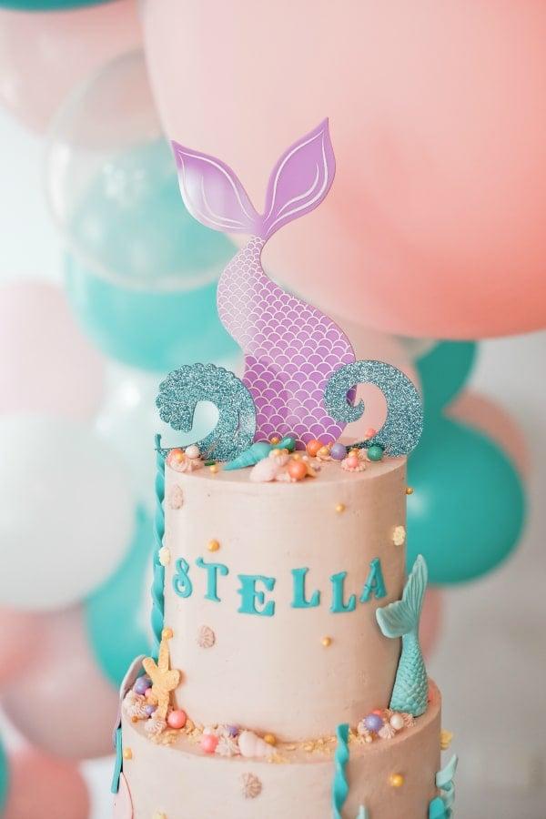 Mermaid Tail Cake Topper