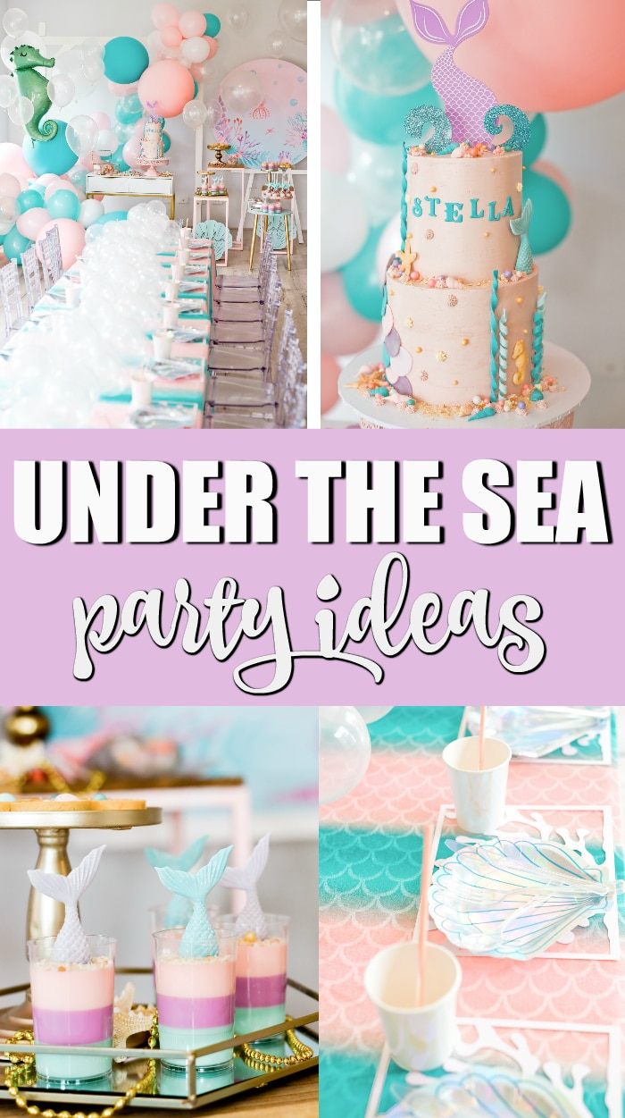 Under the Sea Mermaid Birthday Party on Pretty My Party