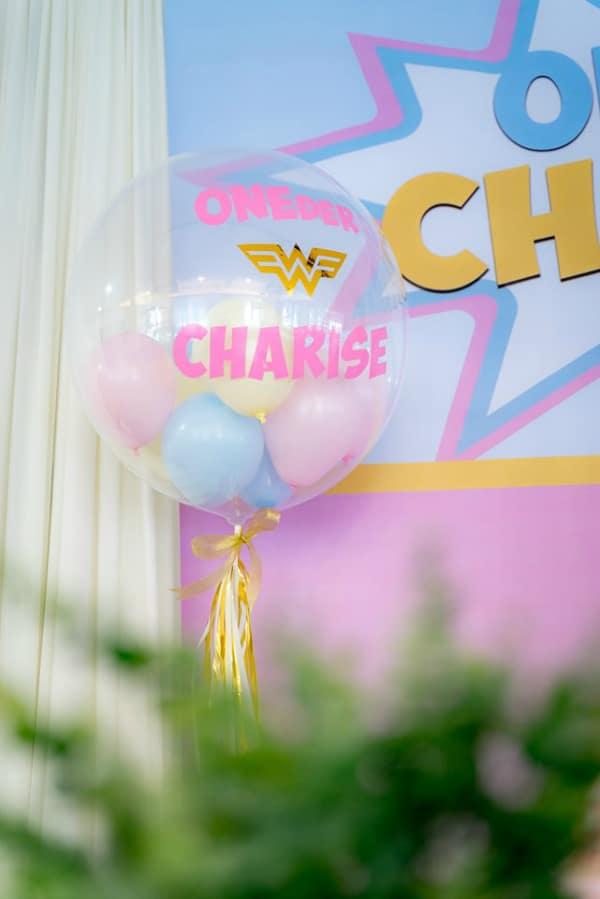 Pastel Wonder Woman Balloon