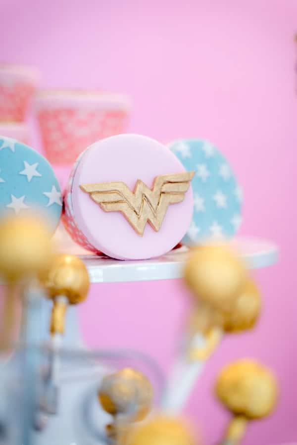 Pastel Wonder Woman Party Food