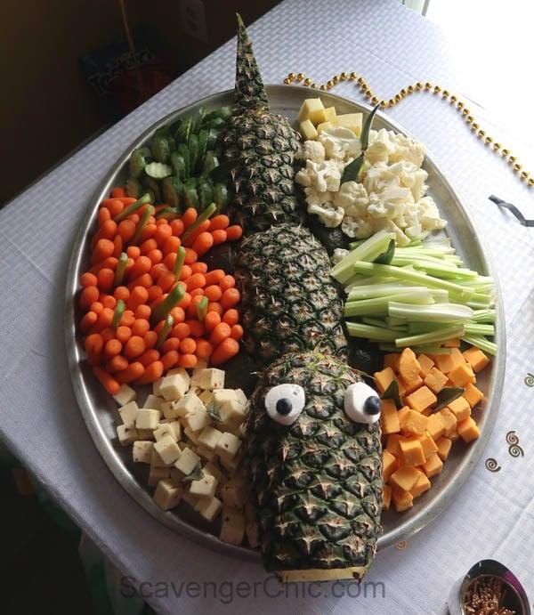 Alligator Veggie Platter