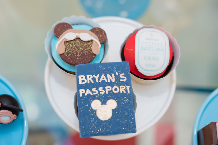 Personalized Aviator Mickey Mouse Party Desserts