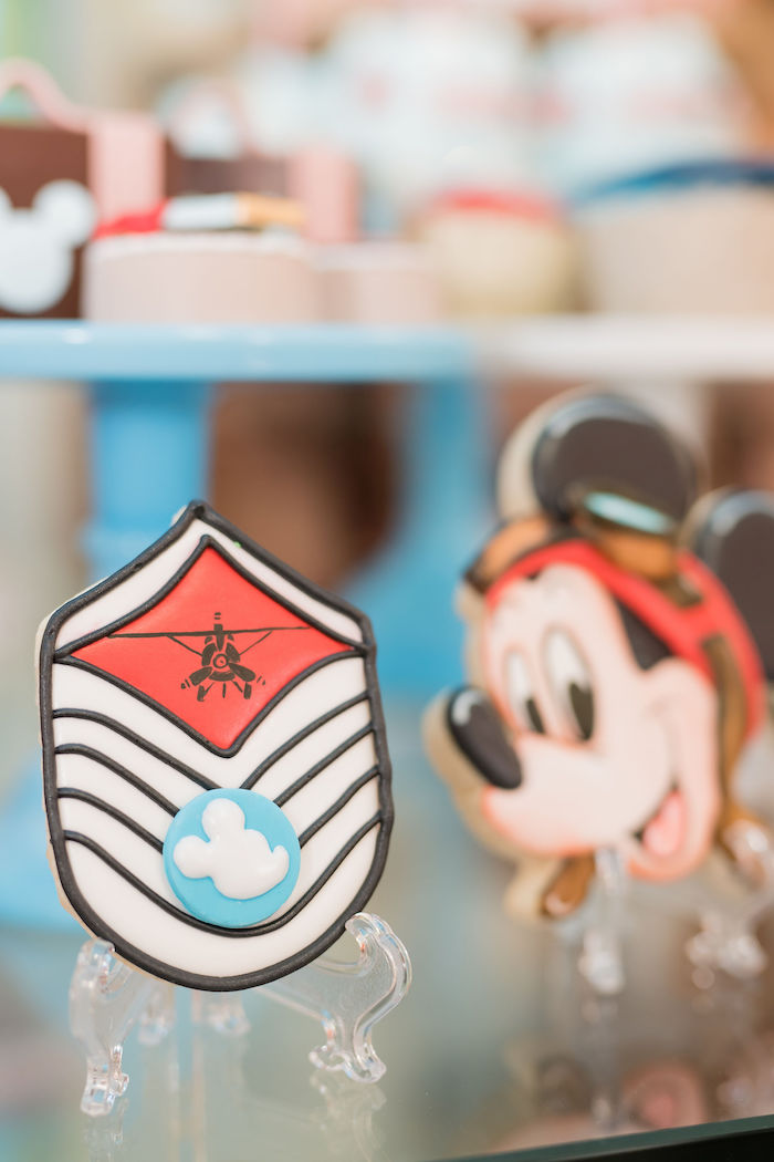 Mickey Mouse Aviator Themed Cookies