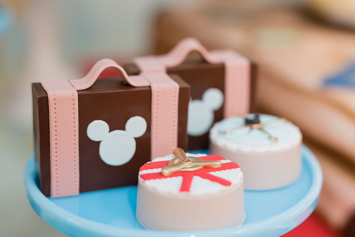 Mickey Mouse Airplane Party Chocolate Covered Oreos and Suitcases