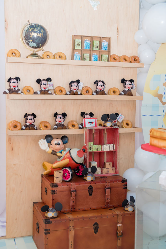 Cool Aviator Mickey Mouse Party Donut Wall
