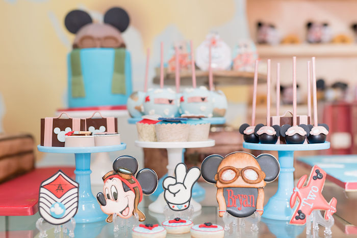 Mickey Mouse and Airplane Party Desserts