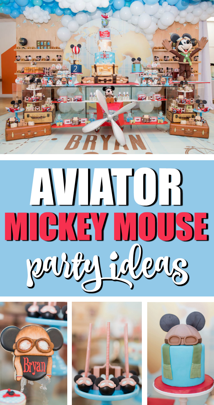 Cool Aviator Mickey Mouse Birthday Party on Pretty My Party