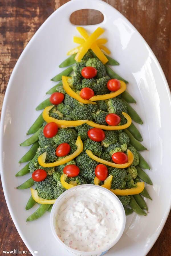 Christmas Tree Veggie Tray Idea