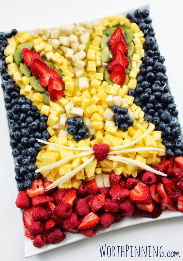 Easter Bunny Fruit Platter