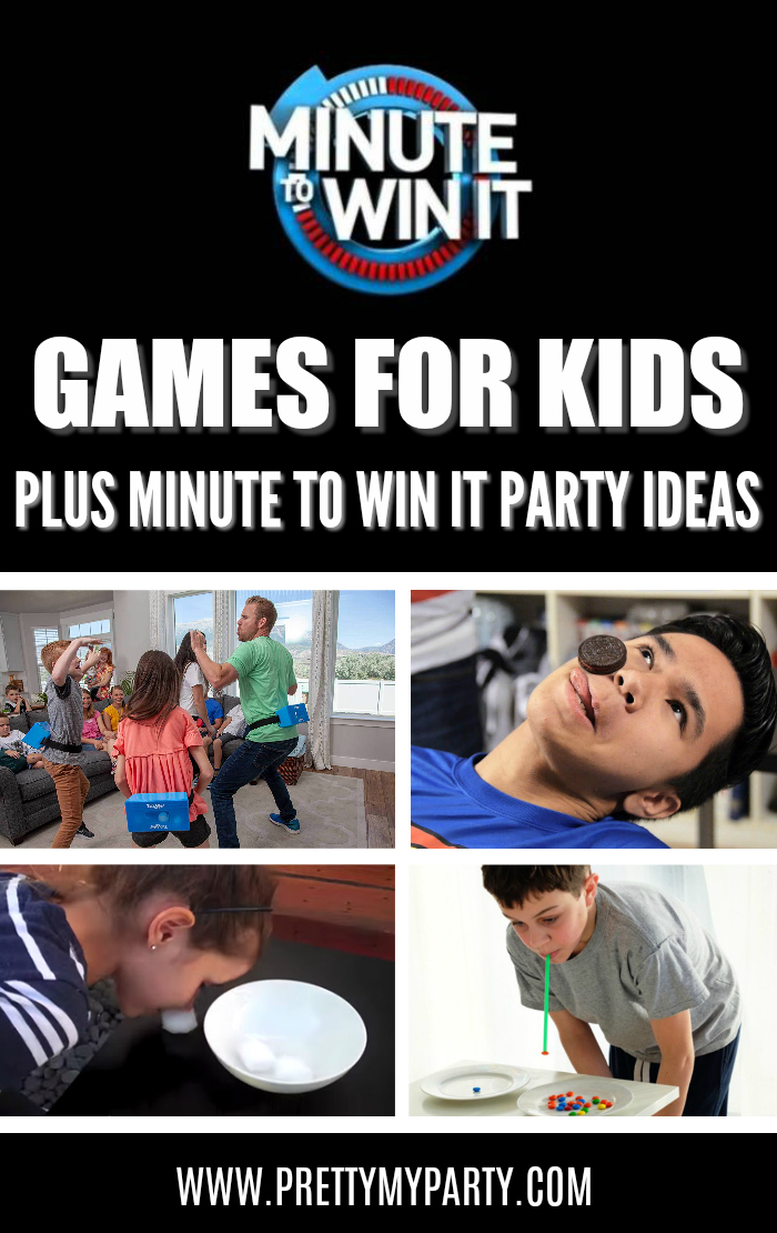 Easy Easy Minute To Win It Games For Kids plus Minute To Win It Party Ideas on Pretty My Party