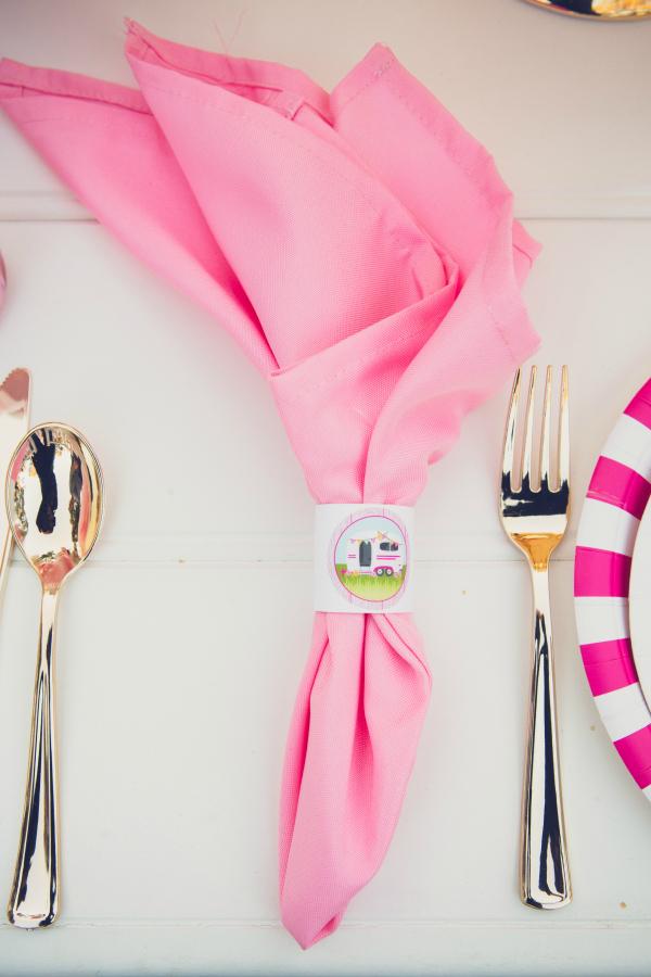 Pink Glamping Party Decor