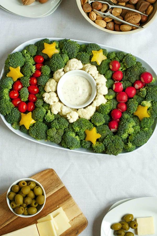 Holiday Joy Veggie Platter Idea