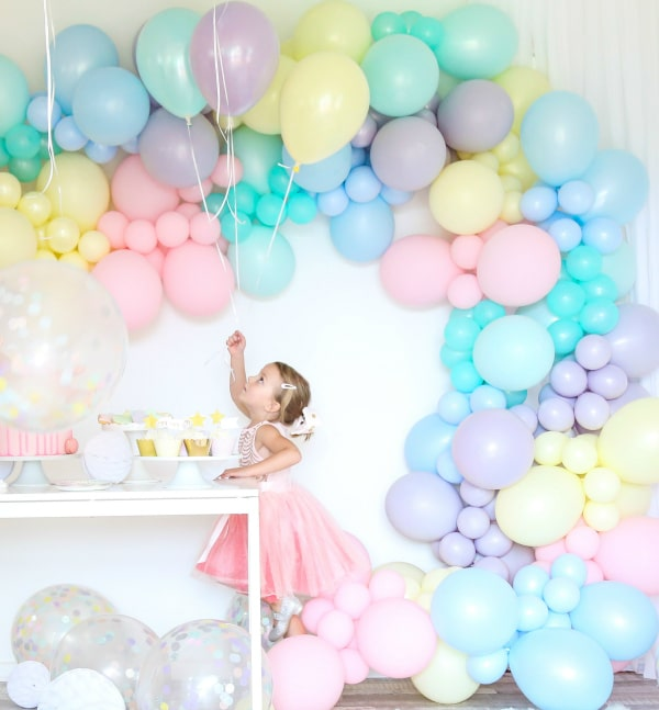 Pastel Party Balloon Decor