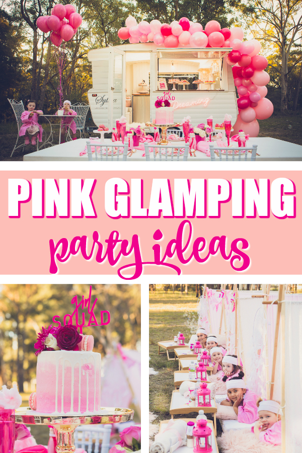 Pretty Pink Glamping Birthday Party on Pretty My Party