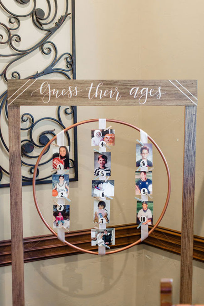 Guess their ages baby shower game