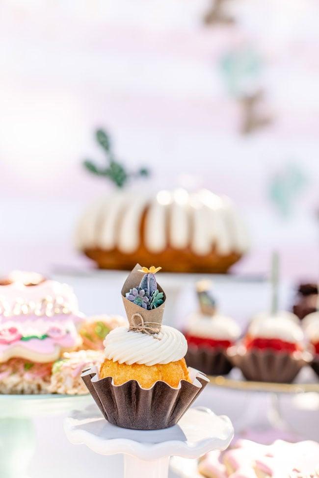 Cactus Theme Cupcake
