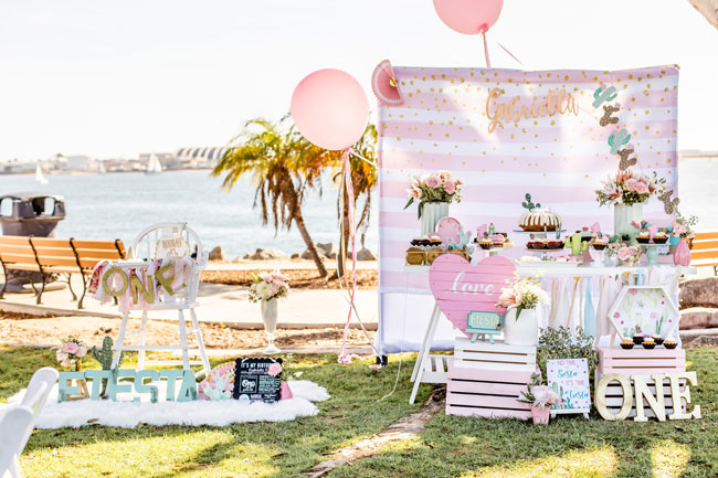 Pretty Cactus Themed First Birthday Party Ideas