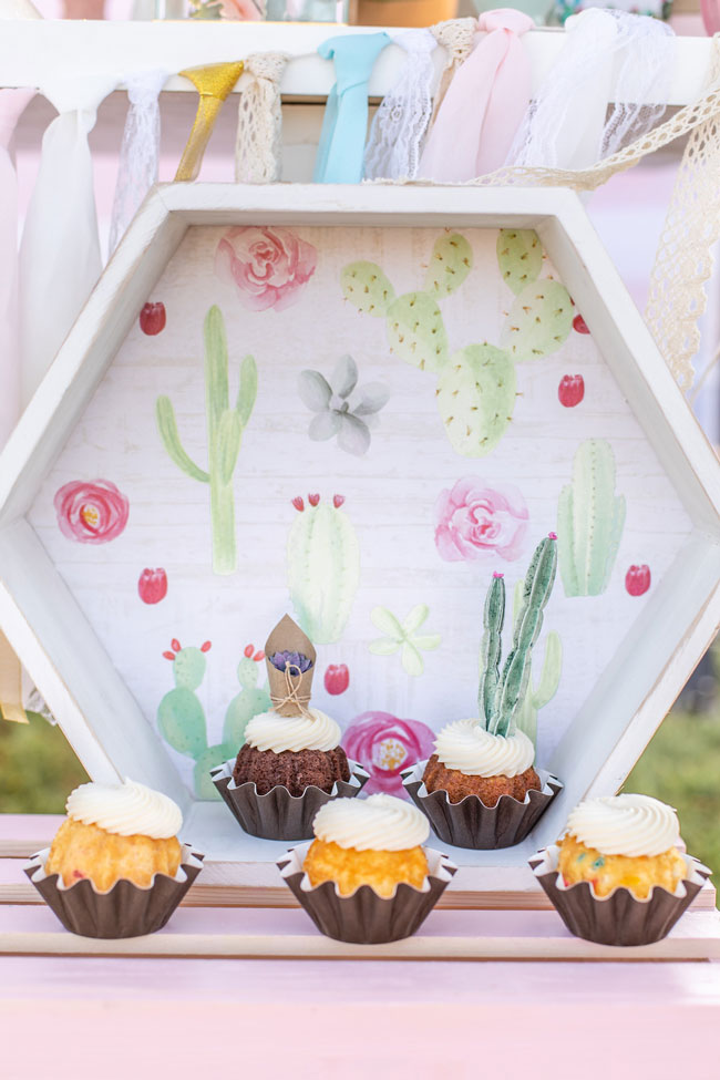 Pretty Cactus Themed First Birthday Party