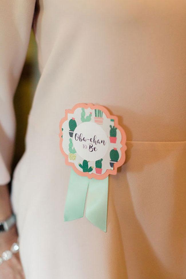 Desert Bloom Baby Shower Pin