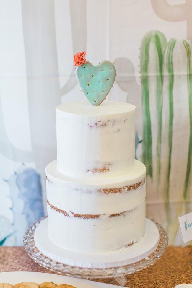 Desert Bloom Baby Shower Cake and Cake Topper