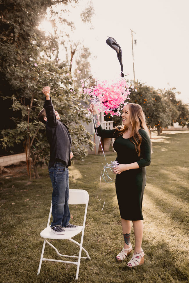 Balloon Pop Gender Reveal