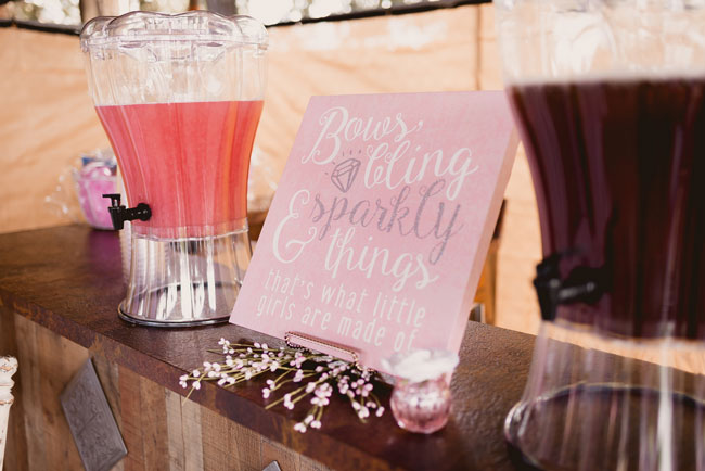 Pink and Gold Princess Baby Shower Sign