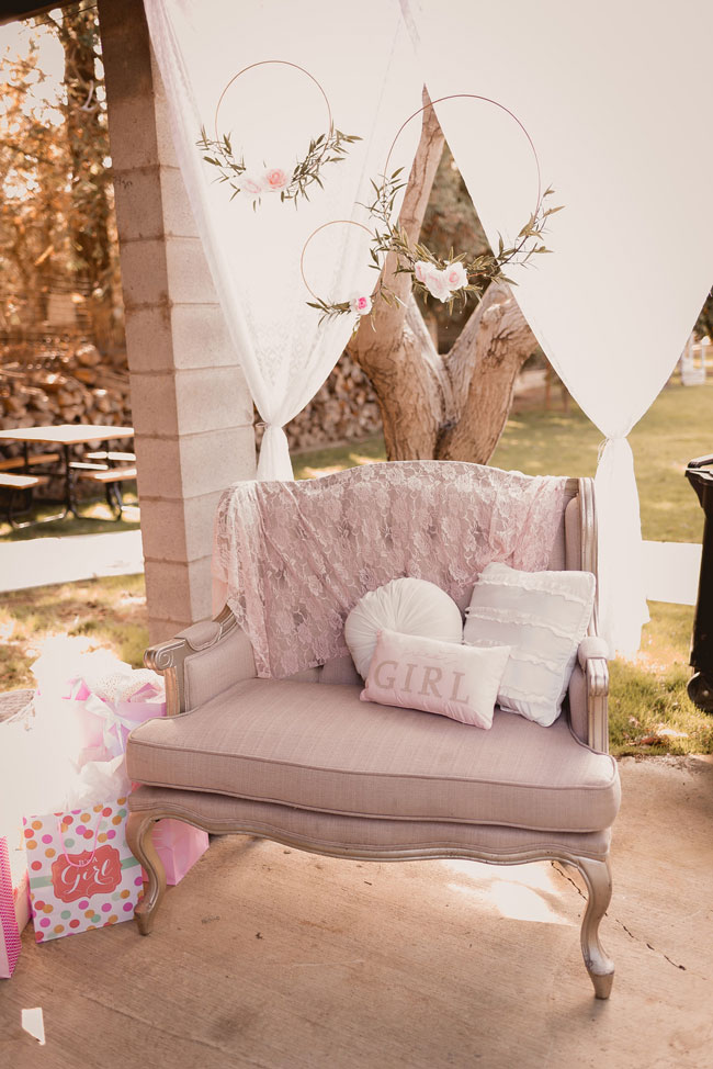 Pink and Gold Princess Baby Shower Ideas