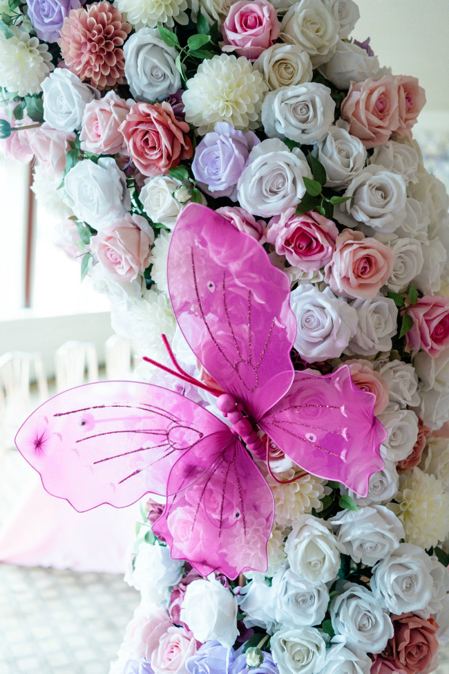 Flower and Butterfly Decor