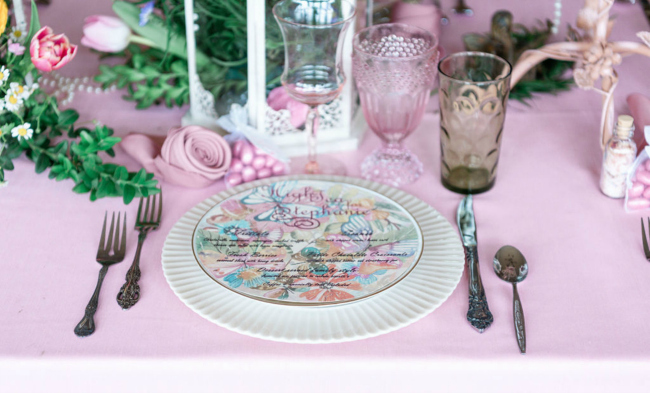 High Tea Bridal Shower Place Setting