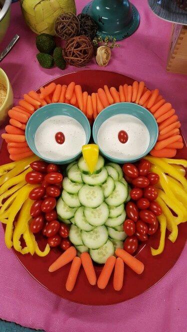 Owl Vegetable Platter