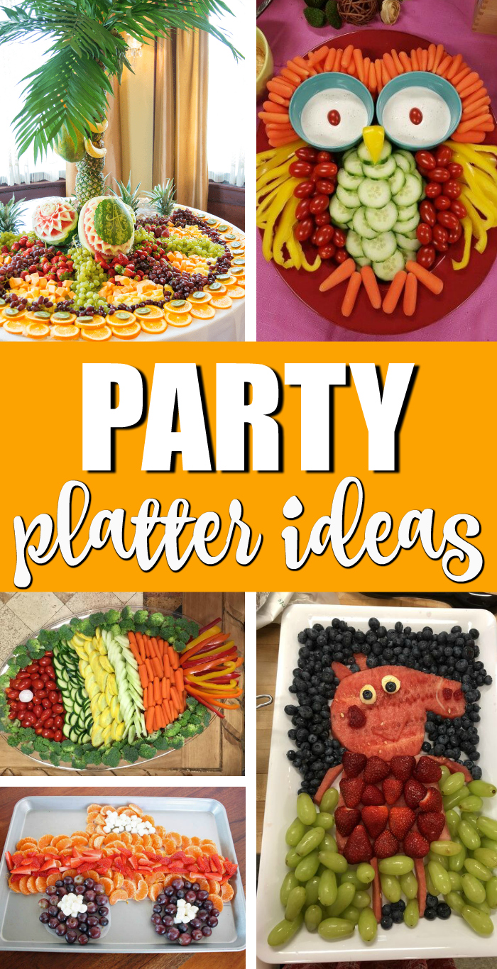 Best Party Platter Ideas - Fruit Trays and Veggie Trays For Parties on Pretty My Party