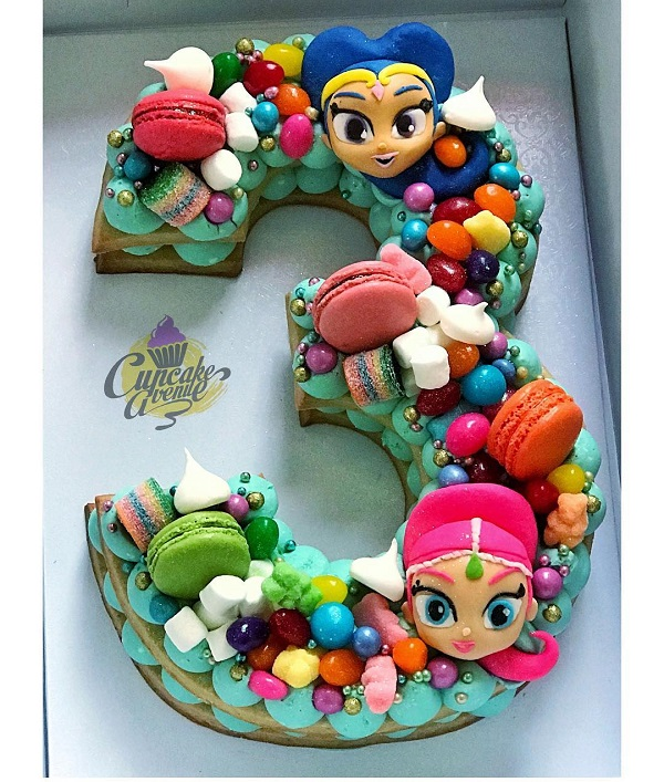 Shimmer and Shine Cookie Cake