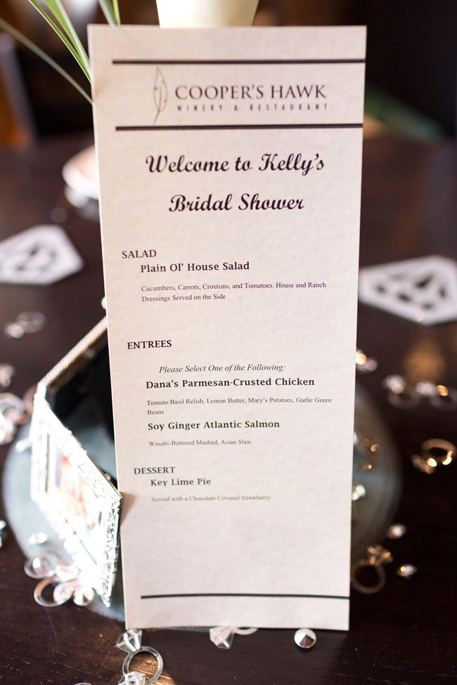 Mint To Be Bridal Shower Menu