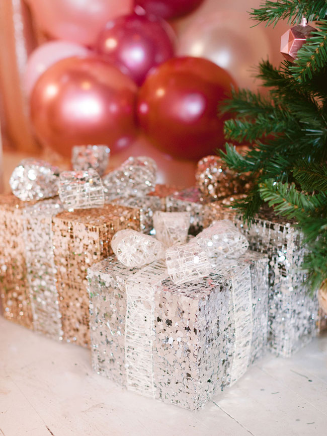Silver and White Present Decorations