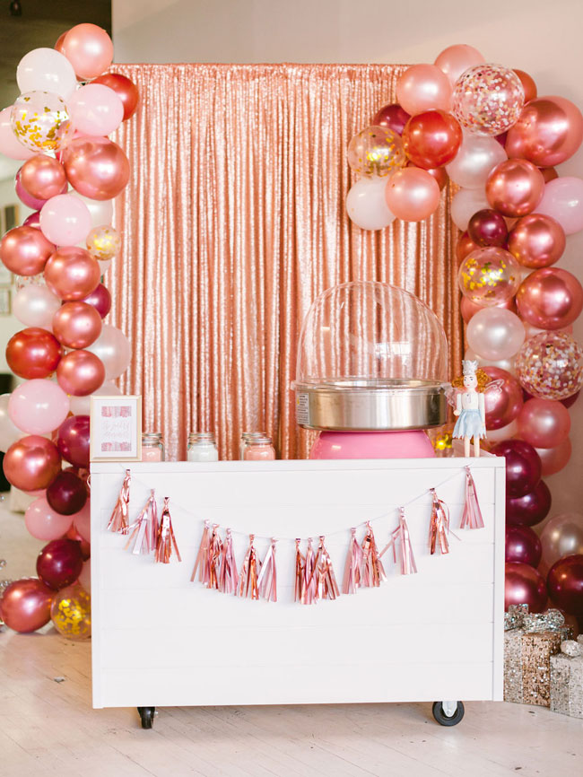 Pink Nutcracker Party Cotton Candy Station