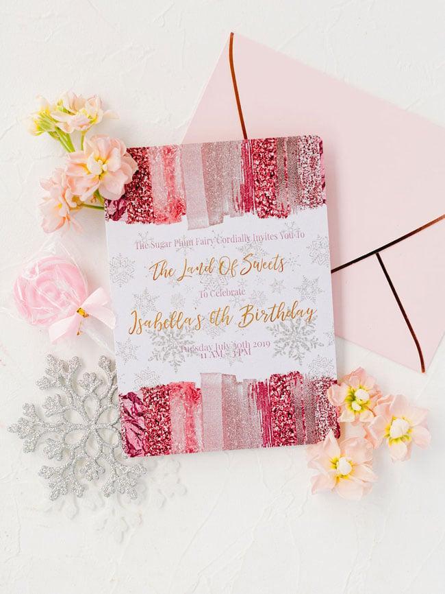 Pink Nutcracker Party Invitations