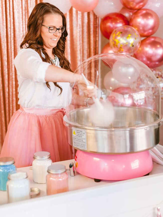 Pink Nutcracker Themed Party Cotton Candy