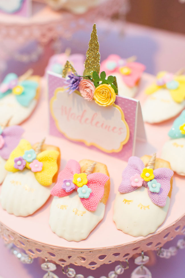 Unicorn Madelines Cookies