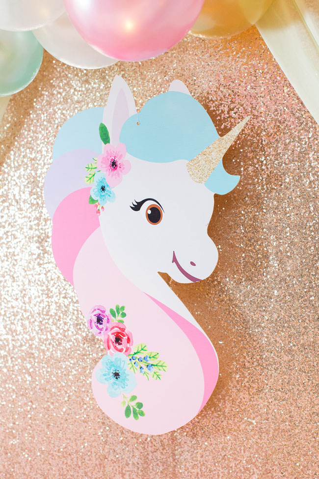 Unicorn Party Backdrop Decoration