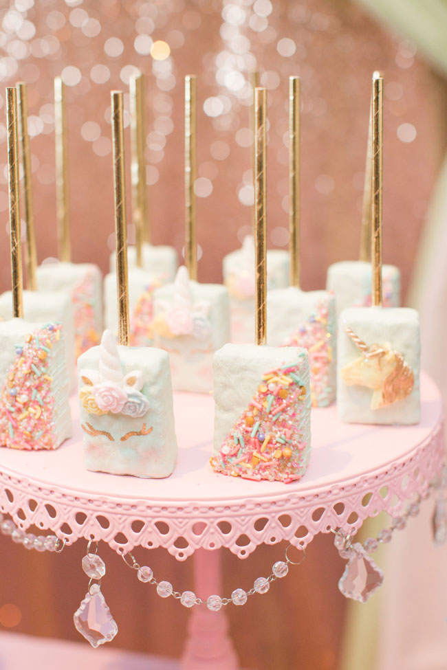 Unicorn Rice Krispie Pops