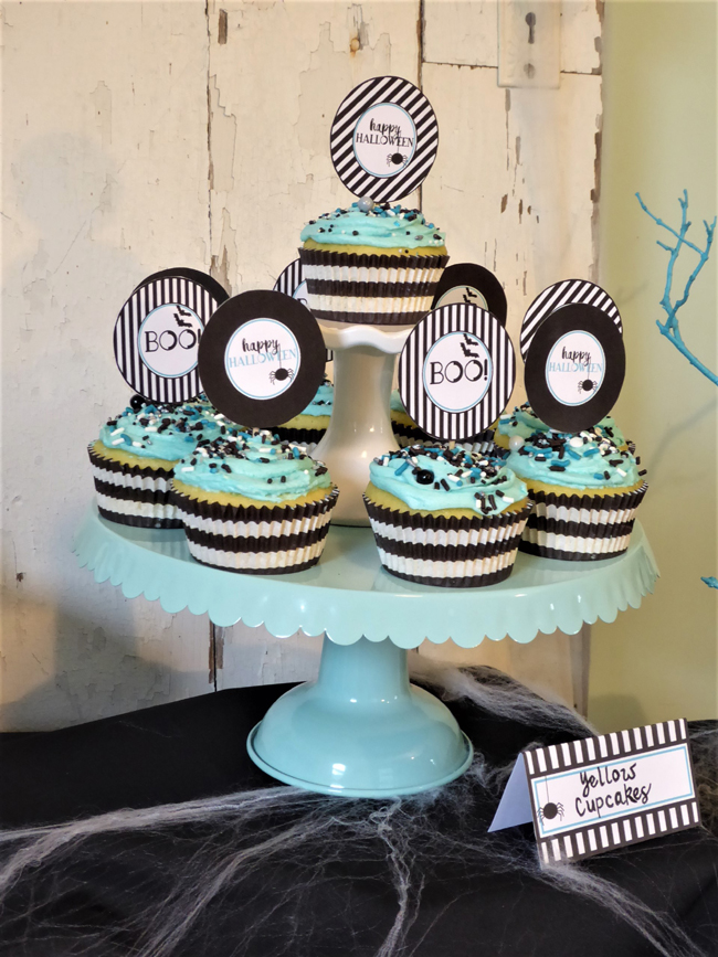 Halloween Cupcakes and Cupcake Toppers
