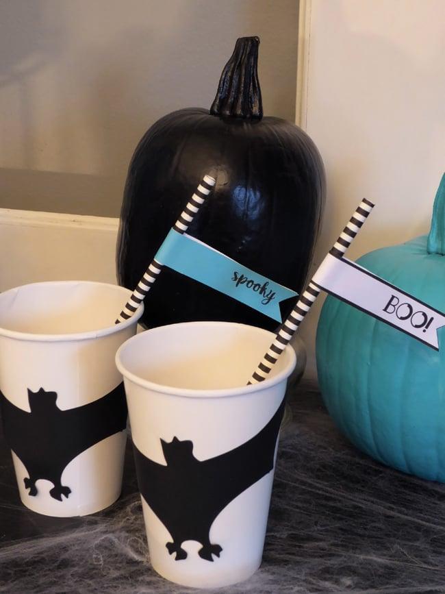 Halloween Party Bat Cups
