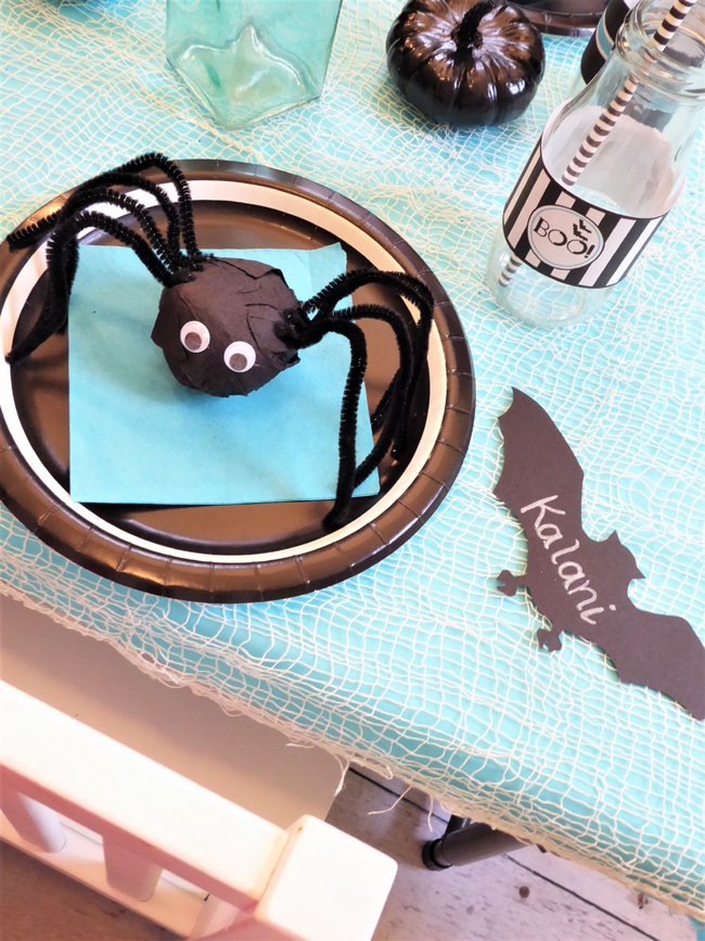 Kids Halloween Party Place Setting