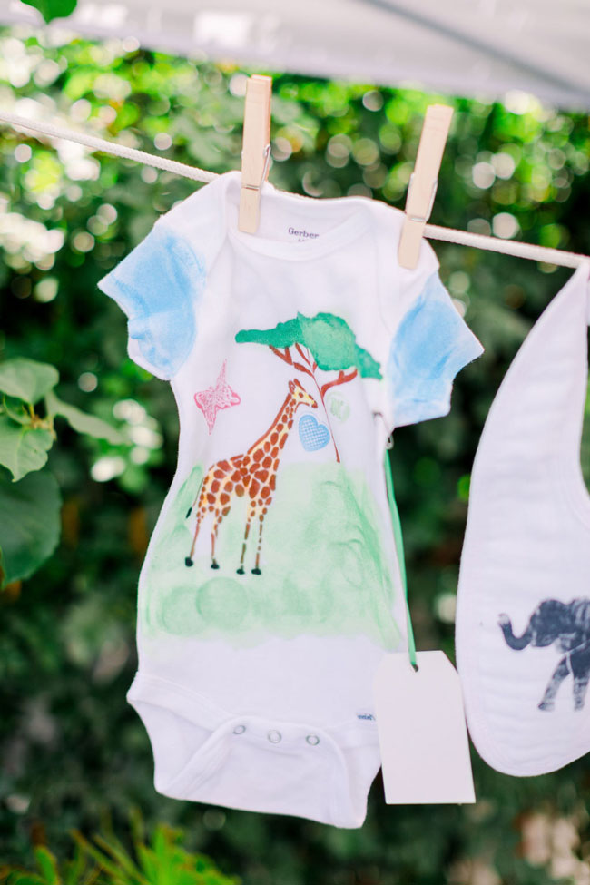 Wild One Tropical Baby Shower Onesie Decorating Activity