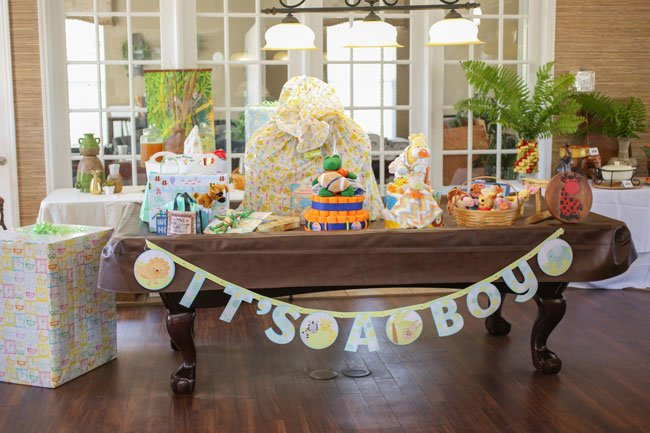 Born To Be Wild Baby Shower Gift Table